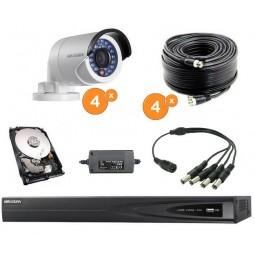 Kit vidéoprotection complet 4 caméras bullet