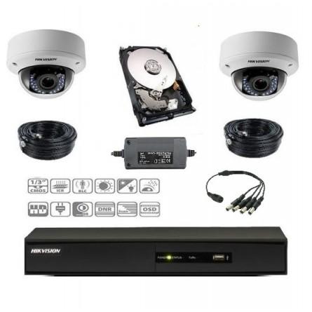 Pack vidéoprotection complet 2 caméras dôme