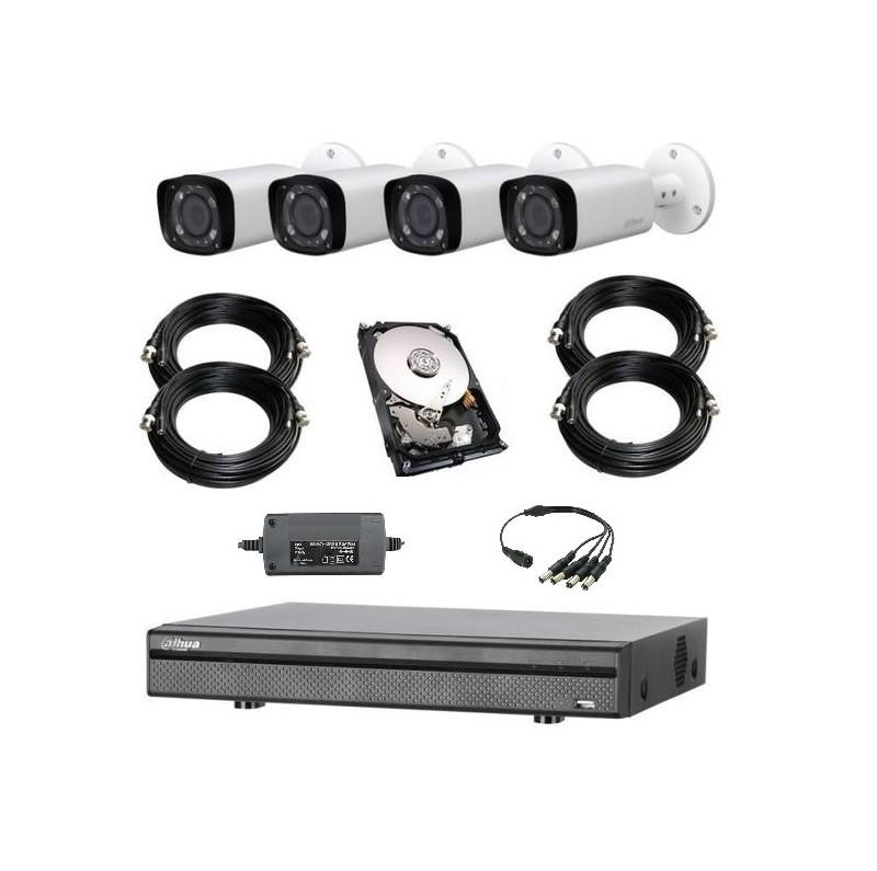 Dahua kit Evo complet 4 caméras bullet 1080p