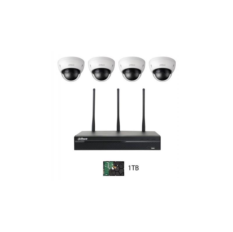 Kit WIFI Full HD Dahua 4 caméras et DD 1 To