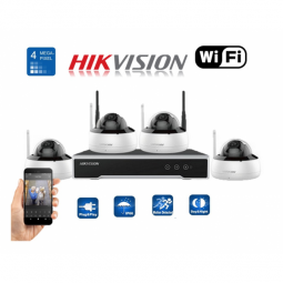 Kit dôme Wi-Fi 4MP 4 canaux - disque dur 1To installé (WD)